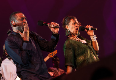 Youssou N'Dour and Neneh Cherry_WOMADelaide 2015_Credit Charles Seja