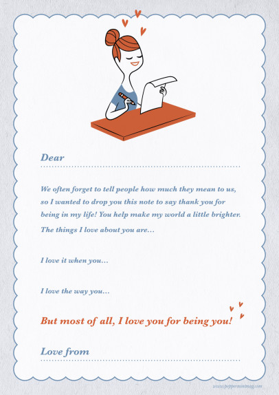 Peppermint Love Letter Template