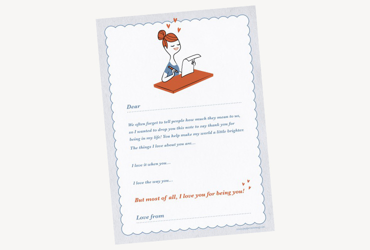 Peppermint lover letter template