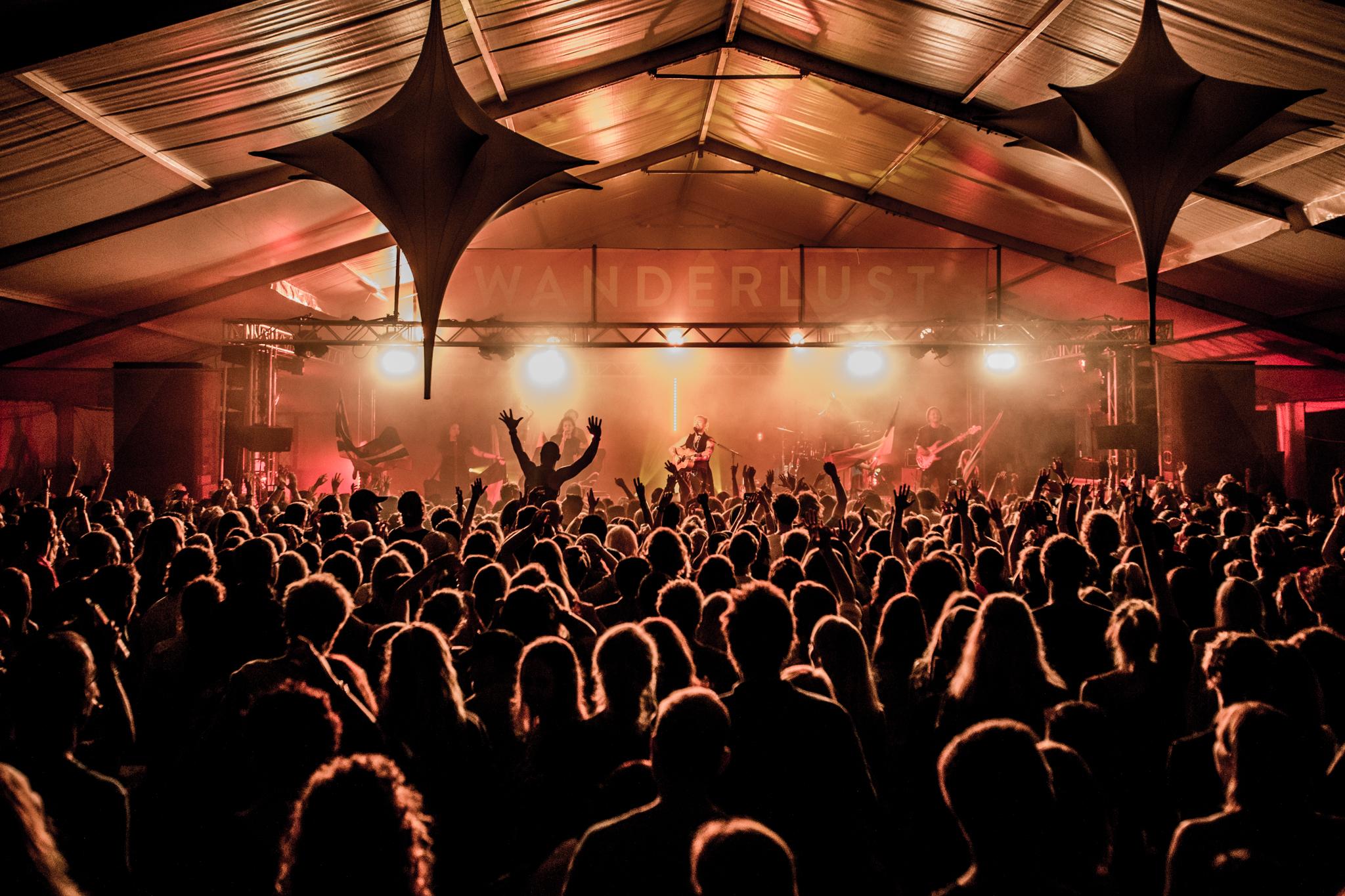 Wanderlust Sunshine Coast live music crowd