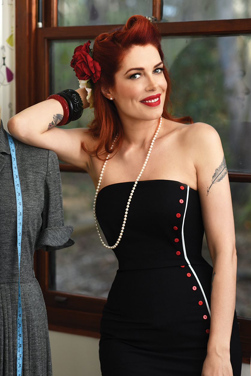 Sewing Vintage with Tara Moss – Photo by Berndt Sellheim