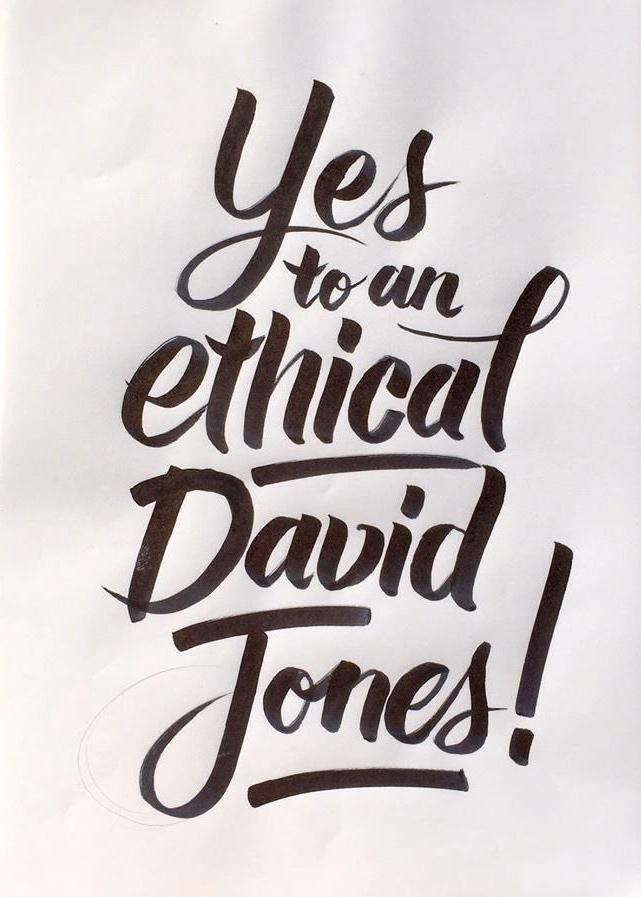 David Jones goes ethical. Image via Germaine Leong