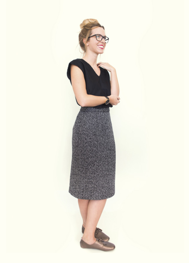 Peppermint sewing school Issue 26 wool pencil skirt