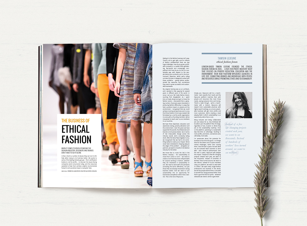 Ethical fashion – Issue 34 Peppermint