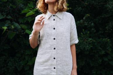Linen dress Off/On linen
