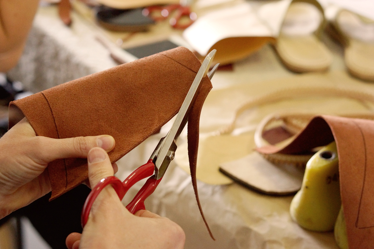 The Shoe Camaraderie workshop DIY leather sandals