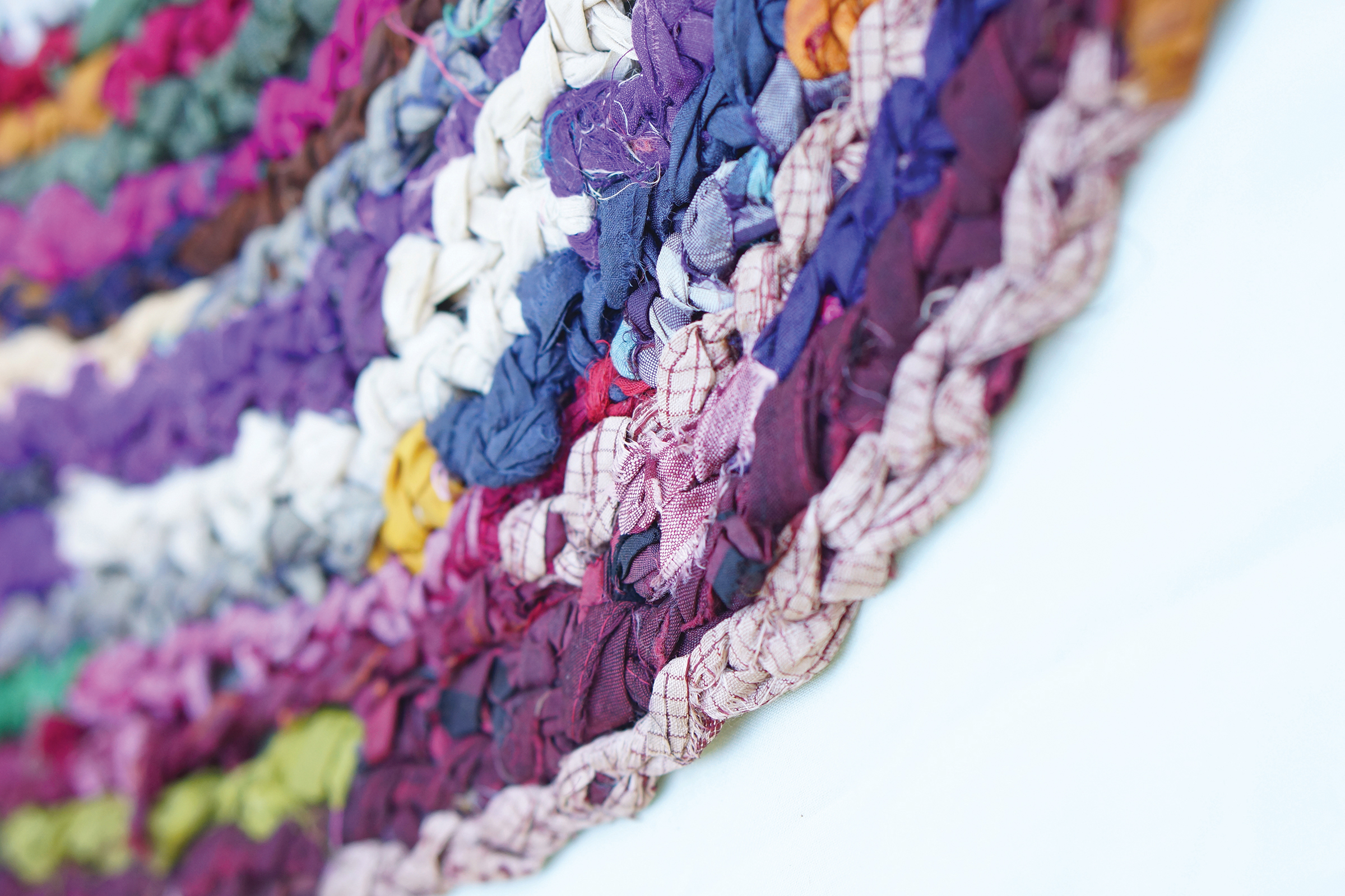 MAKE IT: rainbow rag rug - peppermint