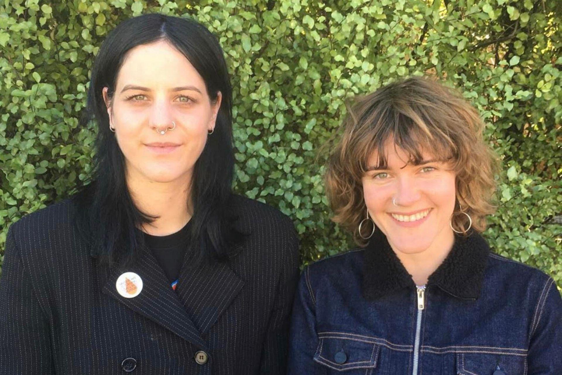 Courtney Sanders and Kelly Elkin