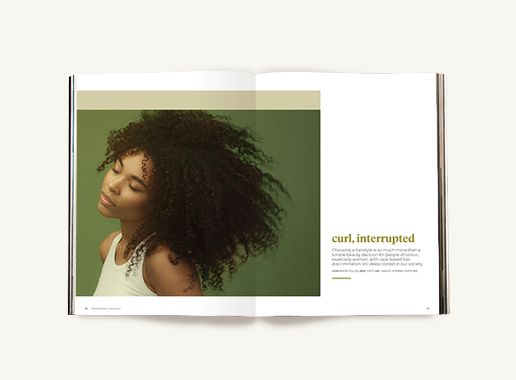 Peppermint magazine – Winter Issue 50 - curly hair discrimination