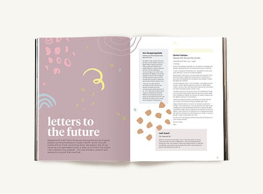 Peppermint magazine – Winter Issue 50 - letters to the future